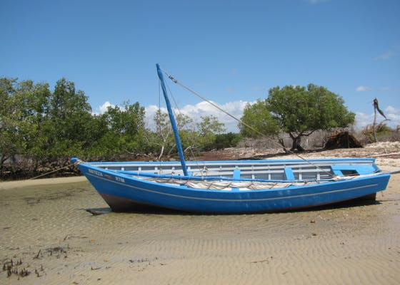 Boat for patrolling the Ambodivahibe marine protected area, given to a local village by CI