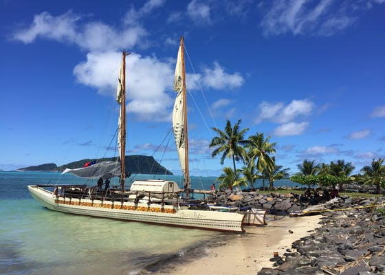 The Vaka, a traditional double-hulled voyaging canoe