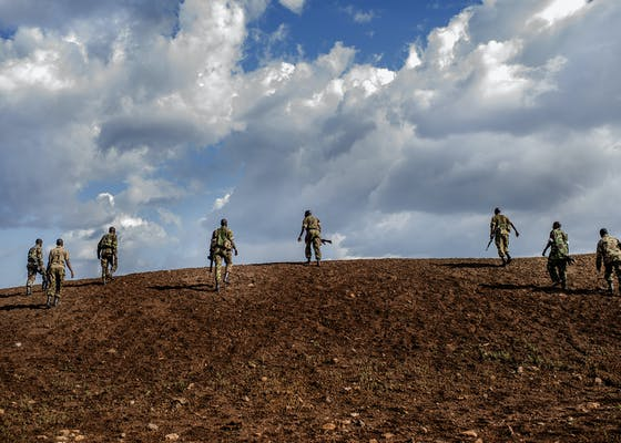 Wildlife rangers in northern Kenya