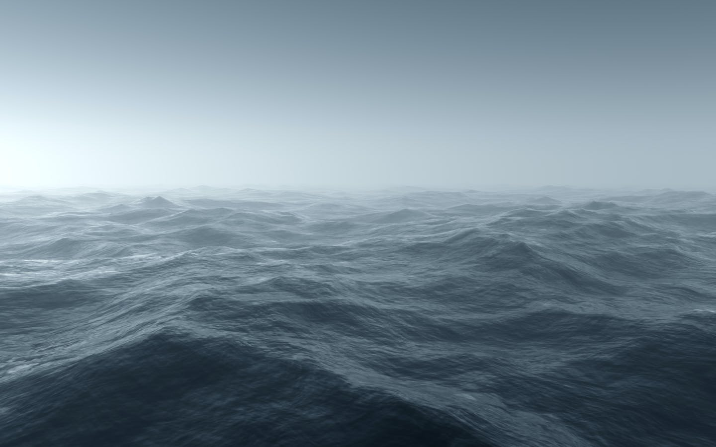 Rough, stormy ocean surface.
