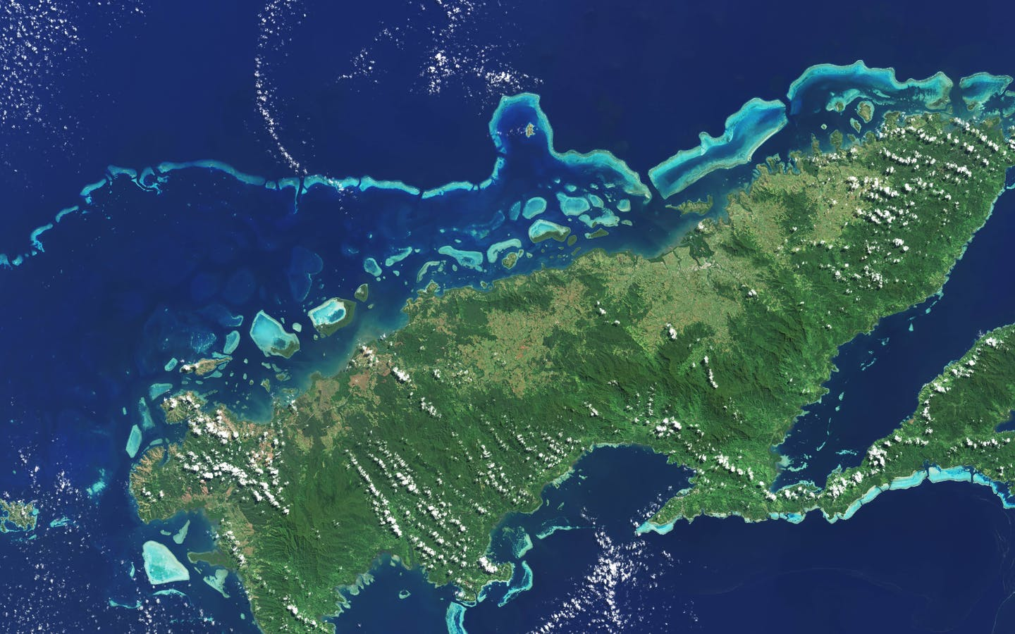 Global mapping of coral reefs