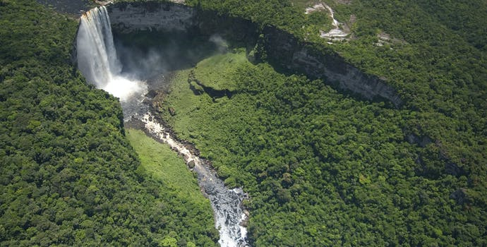 Aerial, Kaieteur Falls, Potaro River, Guyana.