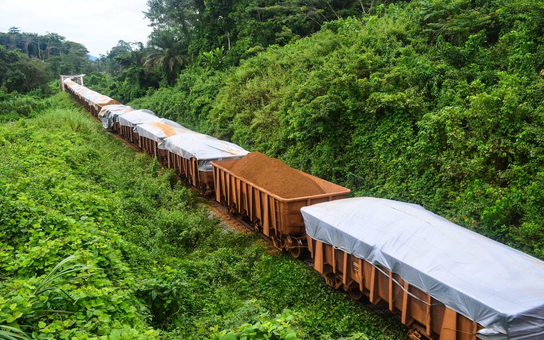 Iron ore mining in Liberia
