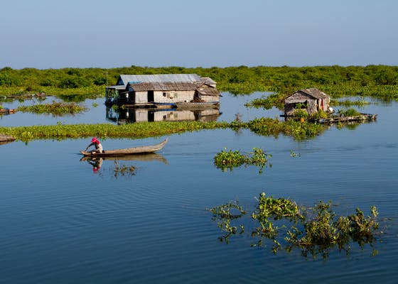 Akal village, in the middle of Tonle Sap Lake.
