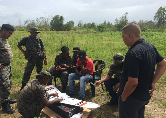 Rangers learn how to use Conservation Drones in the Central Suriname Nature Reserve.