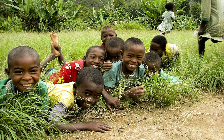 Children in the Ankeniheny ZahamenaCorridor, Madagascar.