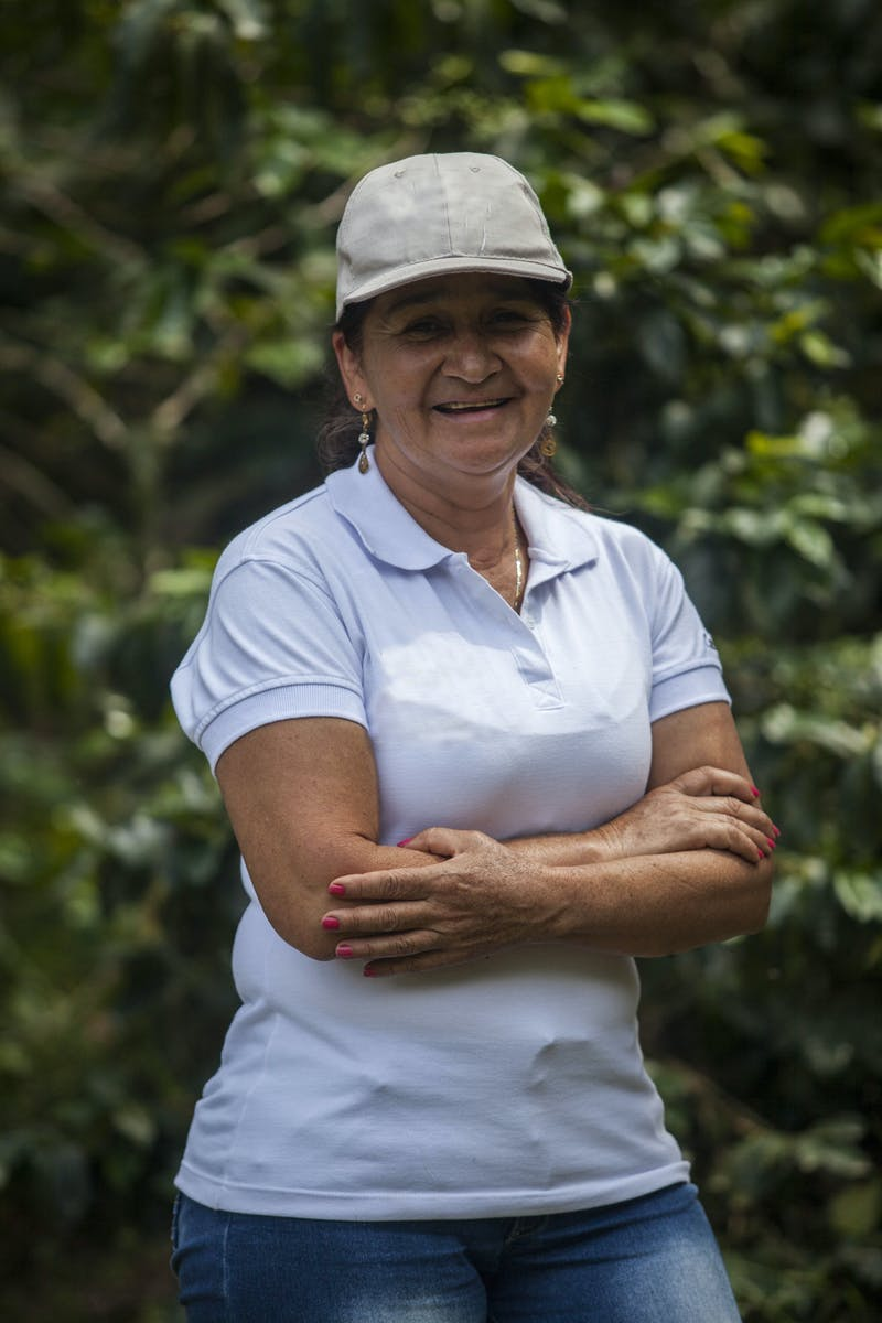 Emilse Perez at her farm