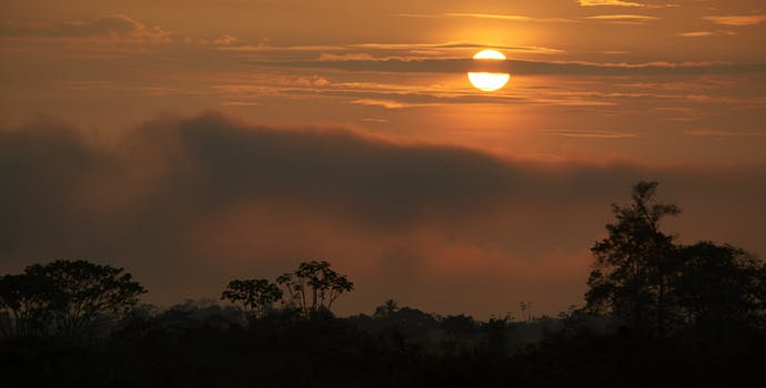 Sunset at the Alto Mayo Protected Forest