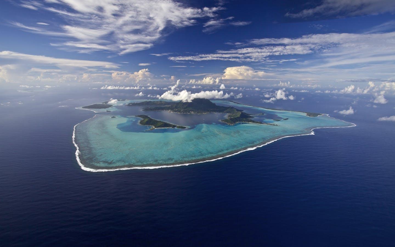 Aerial view, Bora Bora.