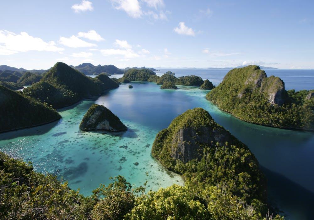 A view of Indonesia's Raja Ampat archipelago
