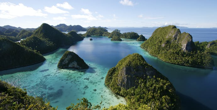 A view of Indonesia's Raja Ampat archipelago