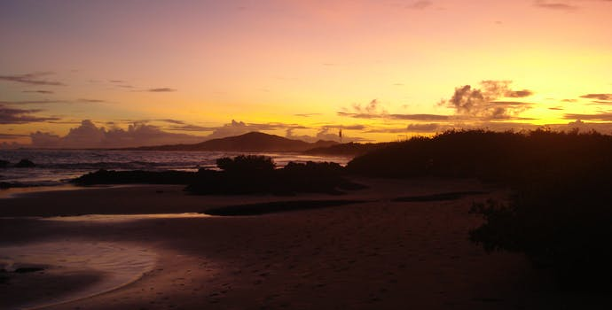 Sunset at Isabella Island in the Galápagos.