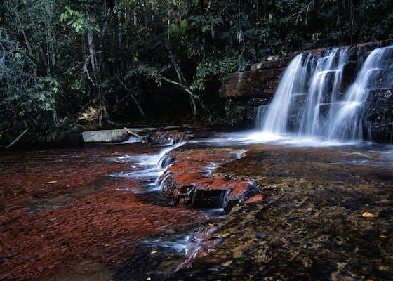 Jaspe Creek waterfall, La Gran Sabana, Canaima National Park, Bolivar, Venezuela