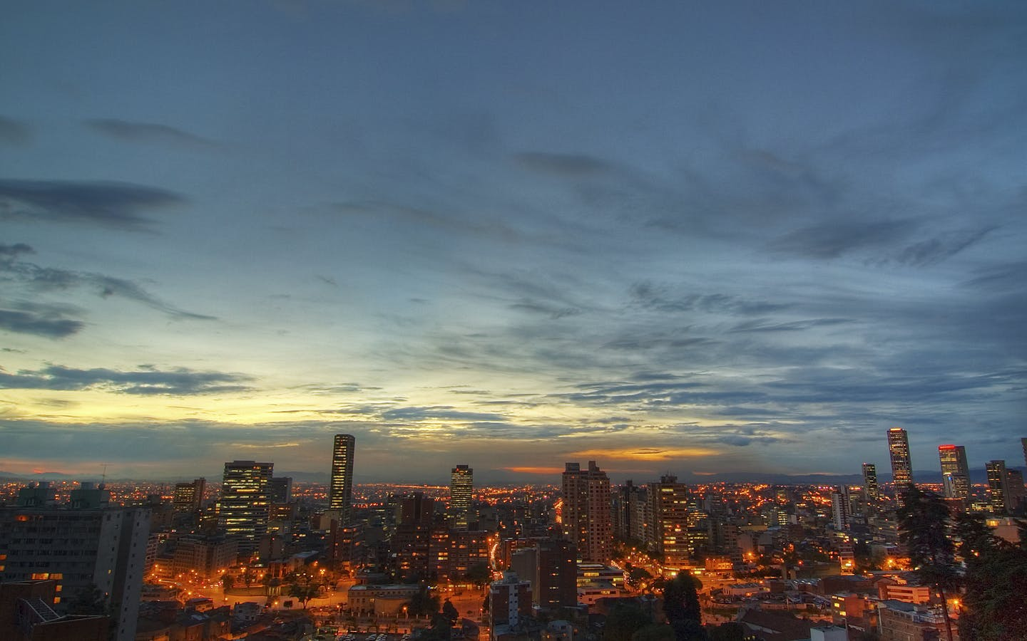 Evening Sky over Bogota