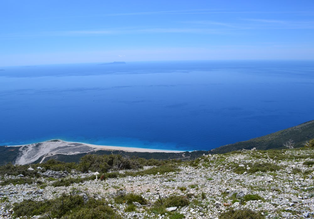 A view of the Ionian Sea from Llogara National Park, Albania.