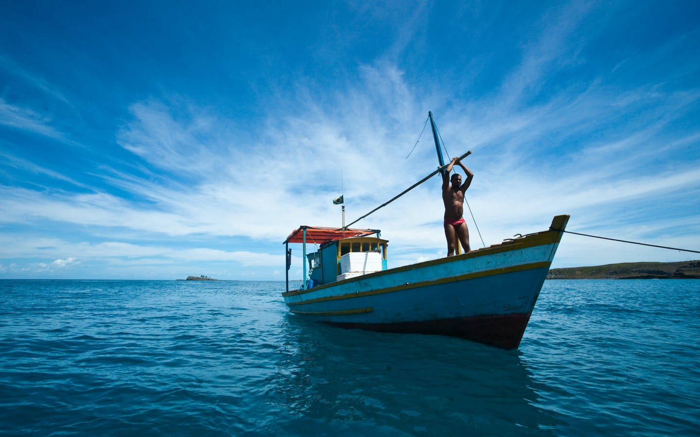 Fishing boat, Abrolhos National Park, Brazil