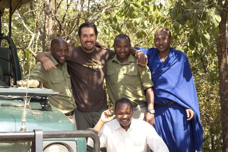 John Martin and friends in Tanzania