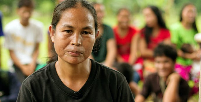 Nolsita Siyang, a forest ranger in Palawan, Philippines.