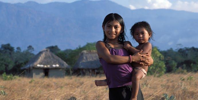 Local Wapishana Macushi children at Nappi village in the Kanuku mountains