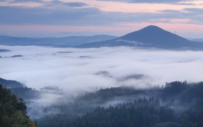 View from Vilhemina Vyhlidka, Ceske Svycarsko