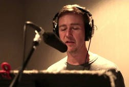 "Edward Norton recording ""The Soil"""
