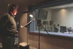 "Harrison Ford in the studio recording ""The Ocean"""