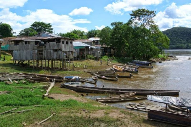 Boat landing area in La Pedrera, on the lower Caquetá River in the Colombian Amazon.