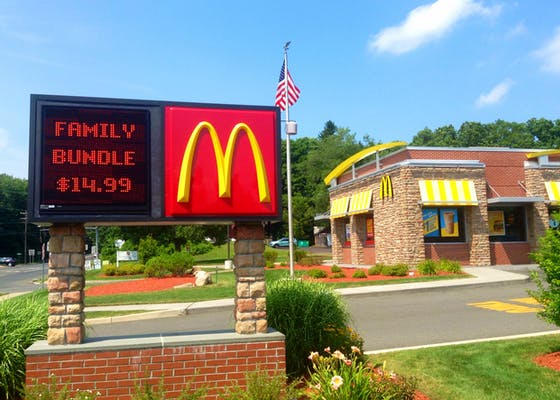 A McDonald's in Cheshire, Connecticut.